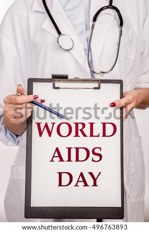 World Aids Day.  World Aids Day 1 December concept:Human immunodeficiency virus infection:acquired immune deficiency syndrome.