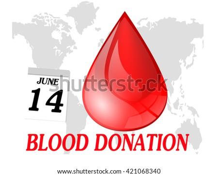 World blood donation day - stock photo