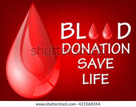 World blood donation save life day - stock photo