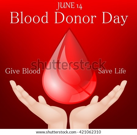 World blood donor day - stock photo