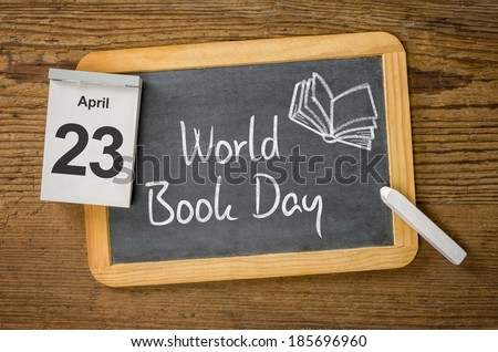 World Book Day, April 23 - stock photo