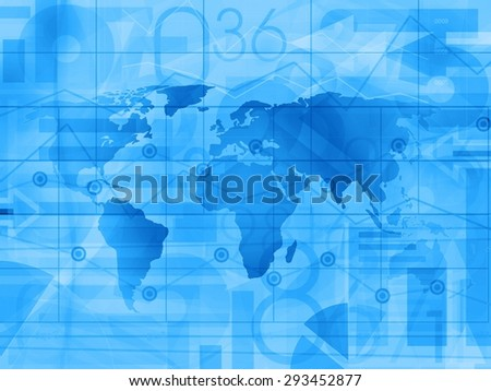 World Business financial News Background illustration