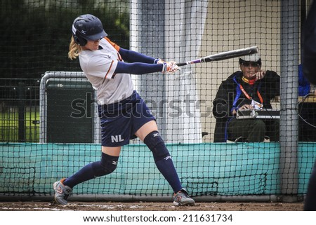 World Championship Softball in Haarlem, August 17 2014, The Netherlands - stock photo