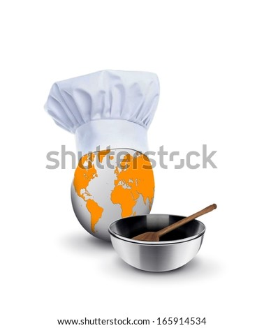 World Class Chef with Spatula and Bowl - stock photo