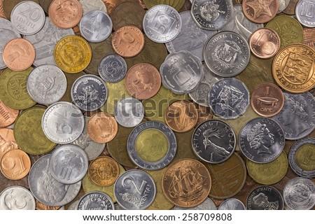 World Coin Collection - stock photo