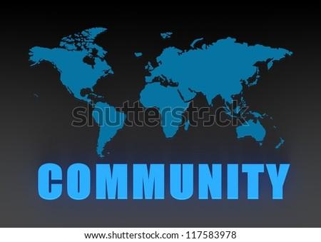World community - stock photo