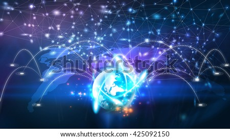 World connected.Social network concept. - stock photo
