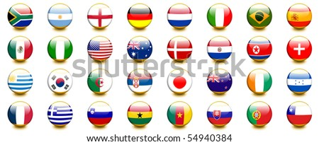 world cup 2010 countries - stock photo