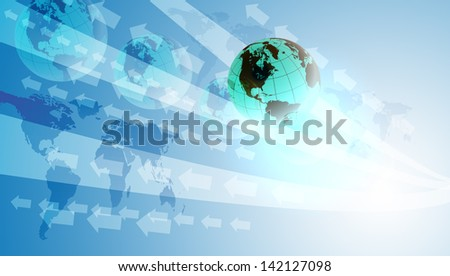 World Digital Technology concept background