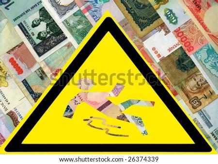 World economic crisis. - stock photo