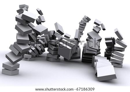 world economical crisis concept - stock photo