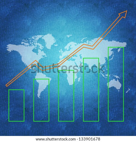 World economy and business success concept - stock photo