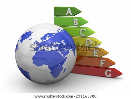 World Energy Saving - 3D - stock photo