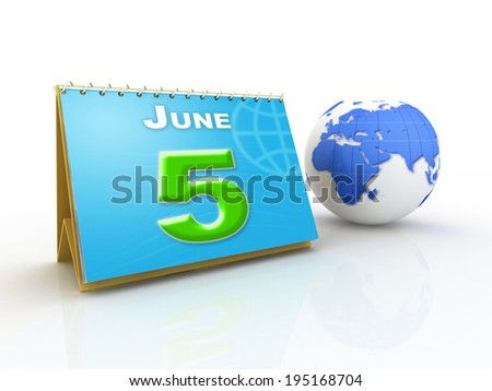 World Environment Day concept with globe - stock photo