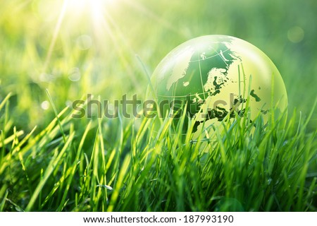 world environmental concept - Europe - Elements of this image furnished by NASA    - stock photo