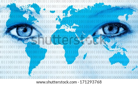 World eyes - stock photo