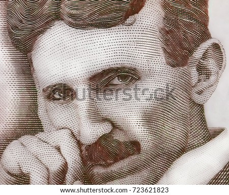 World Famous Inventor Nikola Tesla Portrait Stock Photo Edit Now