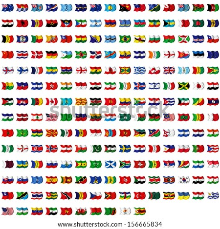World flag collection - stock photo