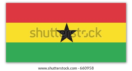 World Flag - ghana - stock photo