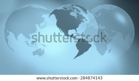 World globe travel concept background