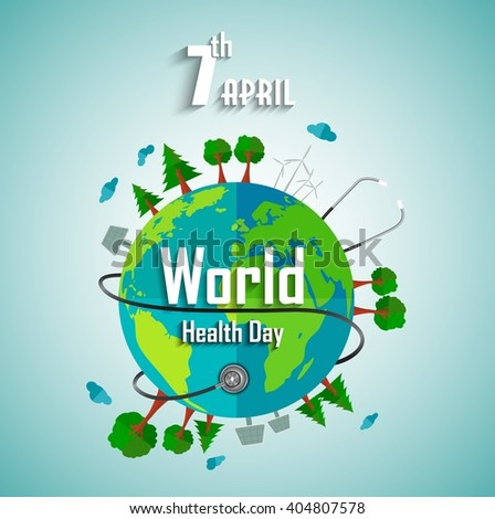 World health day concept with environmental of earth