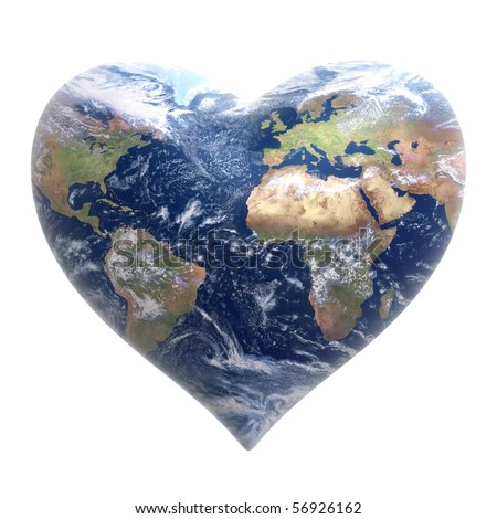 World heart on a white background