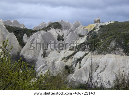 World Heritage, Cappadocia, Goereme, Turkey. beautiful rock formation at cappadocia in turkey