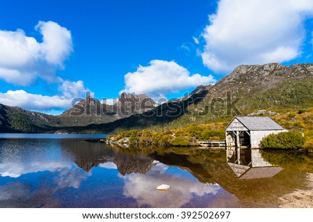 World Heritage Cradle Mountain, Historic Boat Shed and Dove Lake in Cradle Mountain - Lake St Clair National Park, Tasmania