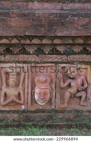 World heritage, Ruins of the Buddhist Vihara at Paharpur, Bangladesh - stock photo