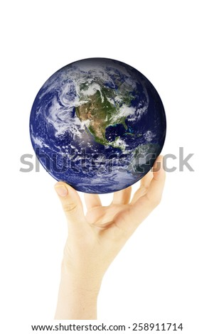 World in Hands - Some components of this montage are provided co - stock photo