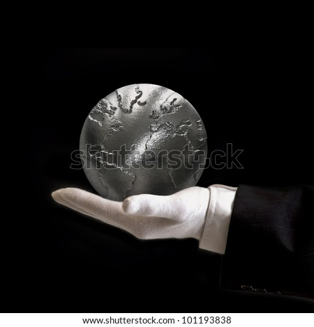 world is yours silver - stock photo