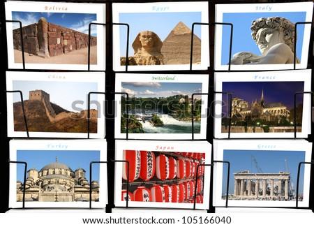 World Landmark collage - stock photo