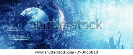 world map  abstract - stock photo