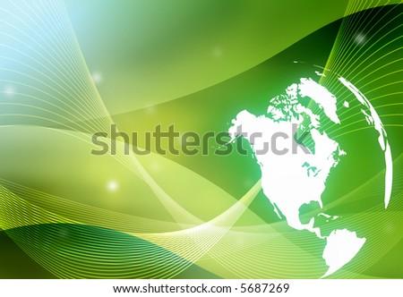 world map - America map - stock photo