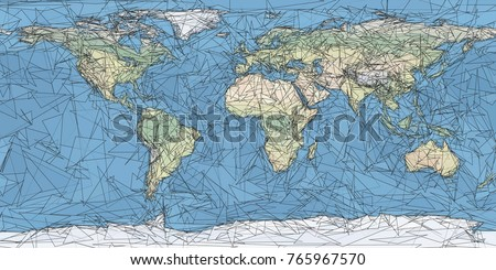 World map artistic low poly triangulated stock illustration world map artistic low poly triangulated gumiabroncs Choice Image