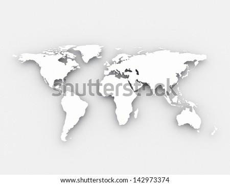 World map background - stock photo
