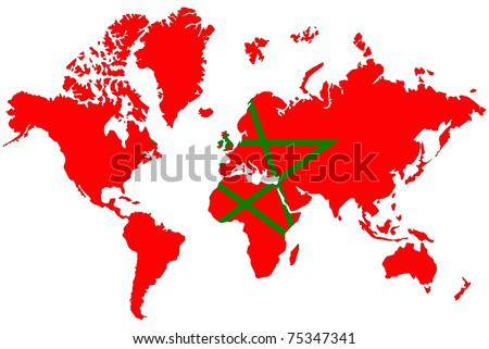 World map background morocco flag stock illustration 75347341 world map background with morocco flag gumiabroncs Images