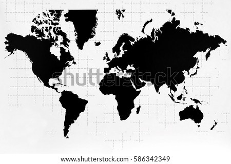 World map black white color ilustracin en stock 586342349 world map black and white color gumiabroncs Gallery