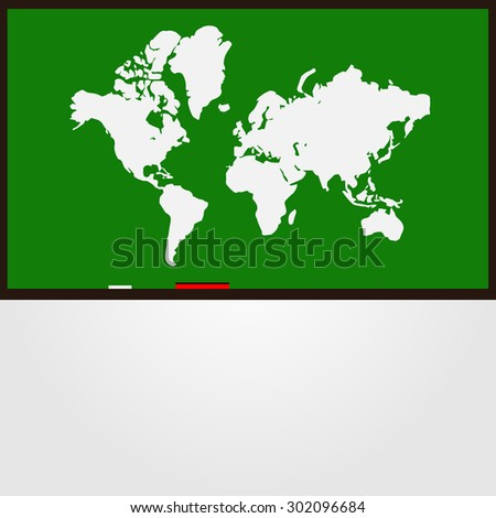 World map continents  - stock photo