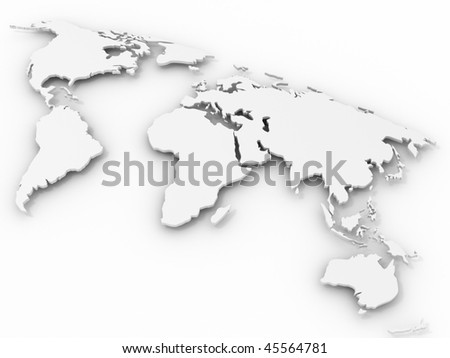 world map. 3d - stock photo