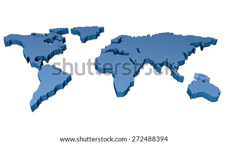 World Map. 3D. World Map - stock photo