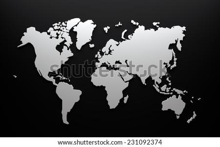 World map dark grey stock illustration 231092374 shutterstock world map dark grey gumiabroncs Image collections