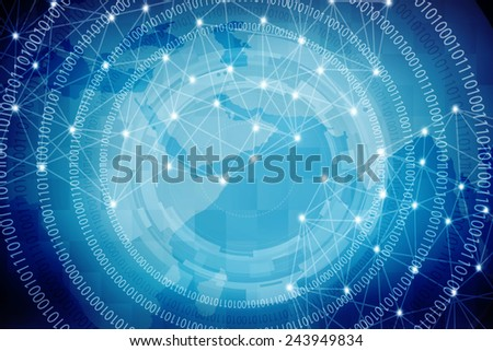 World Map Digital Abstract Business background - stock photo
