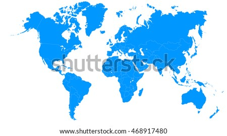 World map europe asia north america ilustracin de stock468917480 world map europe asia north america south america africa australia gumiabroncs Image collections