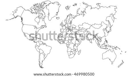 World map europe asia north america stock illustration 469980500 world map europe asia north america south america africa australia gumiabroncs Image collections