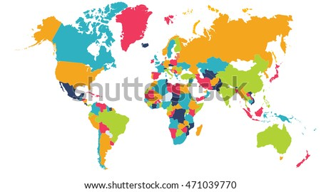 World map europe asia north america stock illustration 471039770 world map europe asia north america south america africa australia gumiabroncs Images