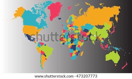 World map europe asia north america stock illustration 473207773 world map europe asia north america south america africa australia gumiabroncs Gallery