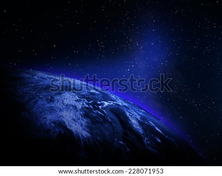 World map from space. Elements of this image furnished by NASA