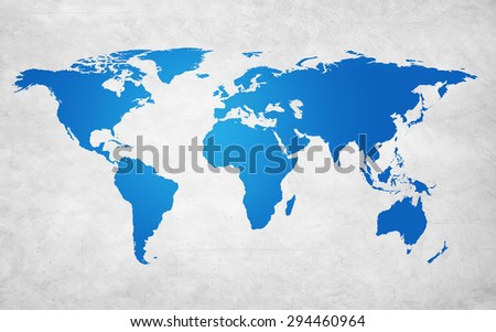 World Map Global Countries Concept - stock photo