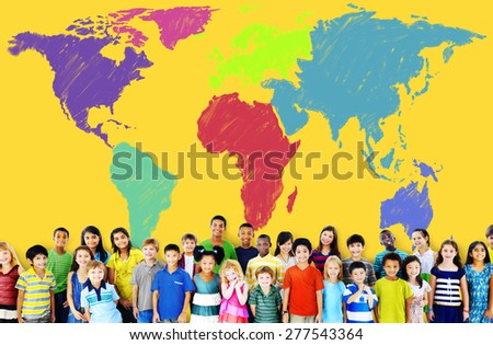 World Map Global International Globalisation Concept - stock photo